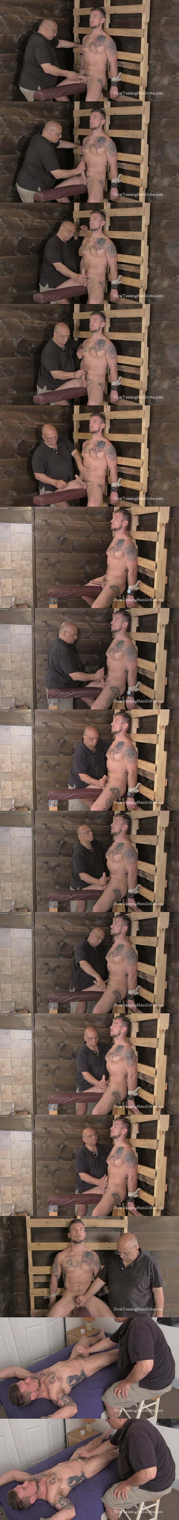 Muscular handsome straight hunk Dave slowly jerked off at Slowteasinghandjobs 02