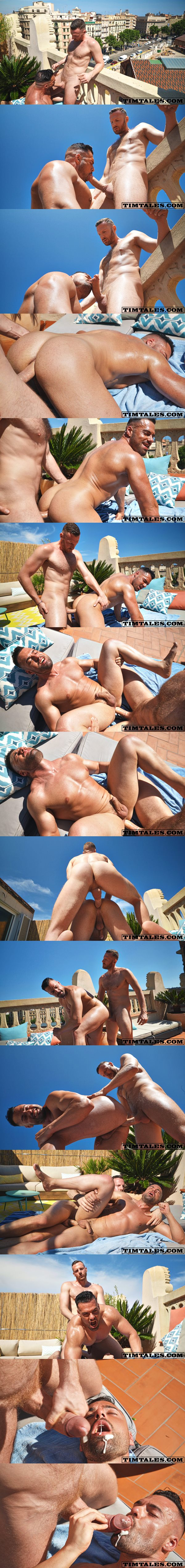 Horse hung Tim Kruger fucks Spanish beefy stud Gabriel Lunna at Timtales 02