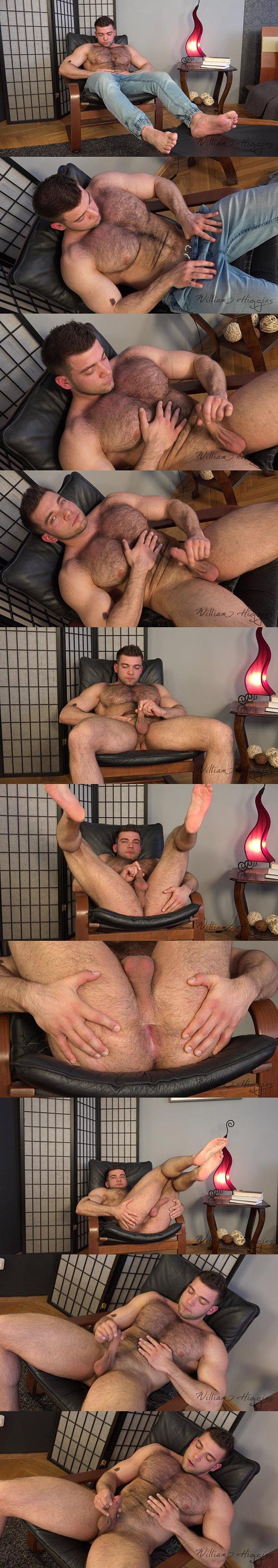 Sexy hairy straight muscle jock Adam Sedak at Williamhiggins