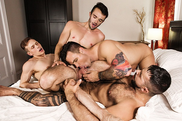 Teddy Torres and Ethan Chase fuck Beau Reed and William Sawyer in Supervisor Part 3 at Thegayoffice