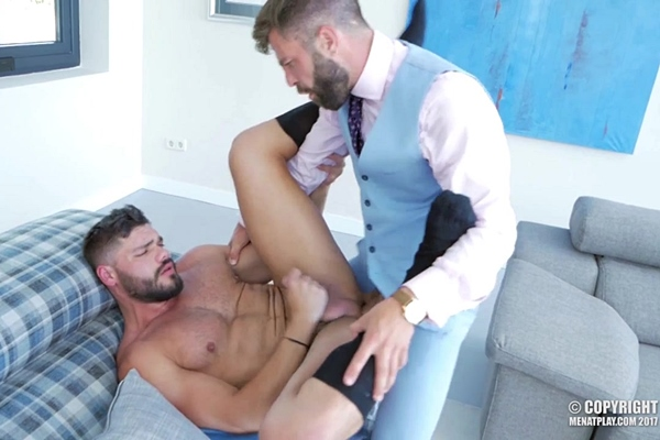 Hector De Silva fucks beefy newcomer Nicolas Brooks in Found In Translation at Menatplay
