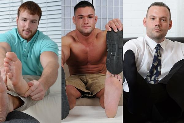 Brad Barnes, Frey and Jacky's dress socks and bare feet at Myfriendsfeet