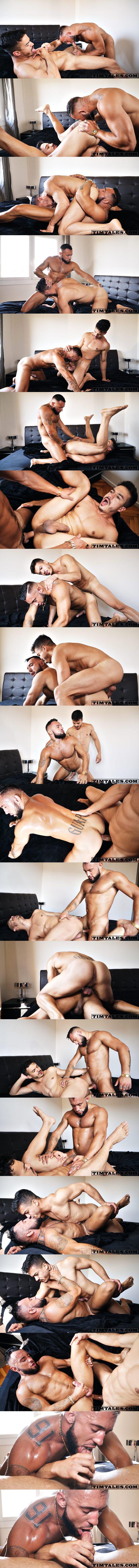 Jake Cook and Jonathan Miranda bareback flip fuck in jake's bottoming debut at Timtales 02