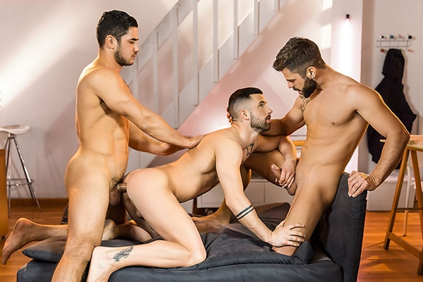 A Sneak Peek of Dato Foland, Hector De Silva and Sunny Colucci Fucking Each Other at Drillmyhole
