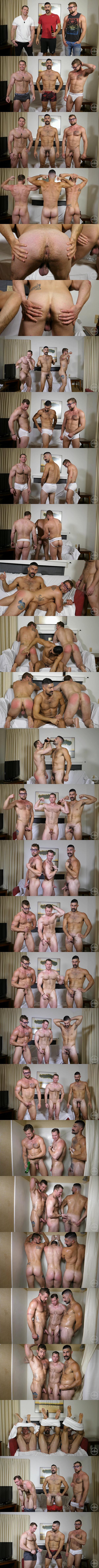 Beau, Brandon Ashton and Jay Austin jerk off in Three Men One Pornstash at Theguysite 01