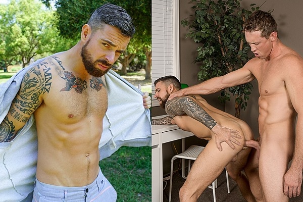 Massculine inked newcomer Teo Carter gets fucked at Bromo and Realitydudes