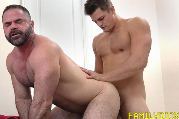Dillon (aka Charlie Patterson) Barebacks Bishop Angus in Dad's Porn Stash at Familydick