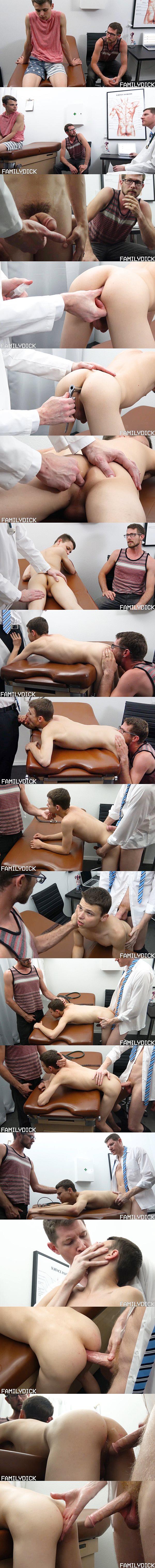 President Olsen and Brother Eyring bareback Elder Xanders in Doctor's Office Visit at Familydick 02