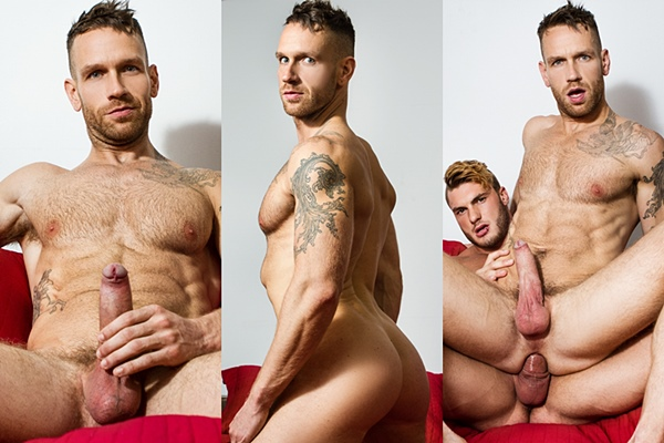 William Seed fucks inked newcomer Kit Cohen in The Guys Next Door Part 1 at Drillmyhole