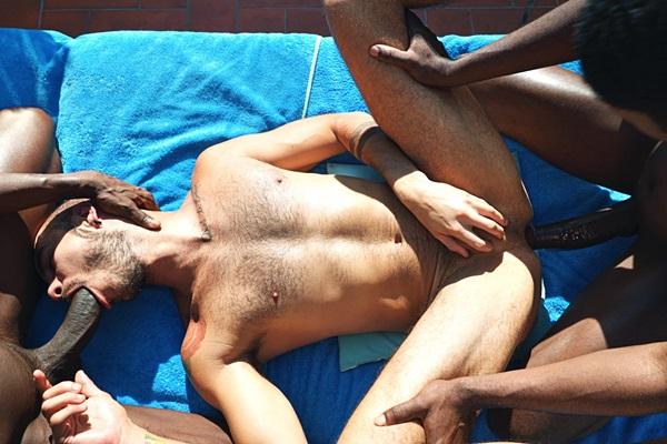 Big dicked Devon Lebron and Patrick Grau bareback Patrick Dei at Timtales