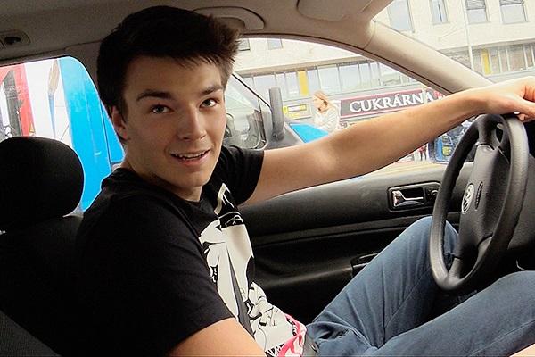 The cameraman barebacks a cute straight taxi driver's virgin ass in Czech Hunter 327 at Czechhunter