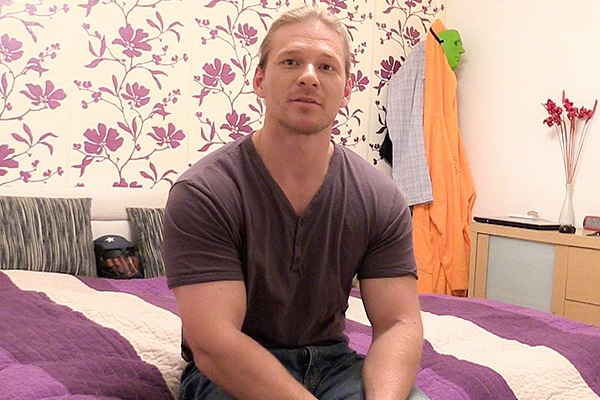 The cameraman barebacks a blond muscular bouncer in Debt Dandy 216 at Debtdandy