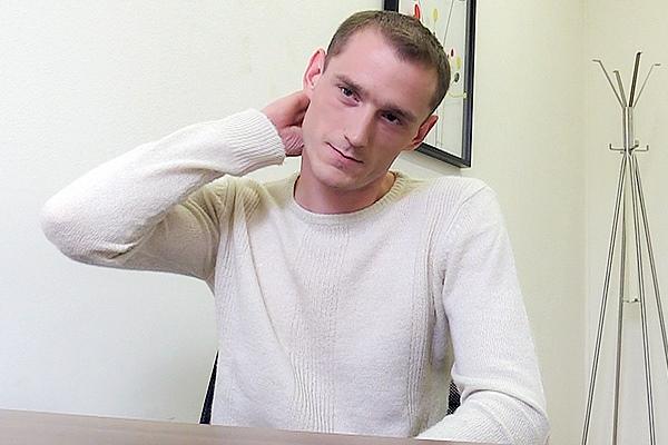 Nikol Monak barebacks blue-collar worker Novak's tight virgin ass in Dirty Scout 109 at Dirtyscout