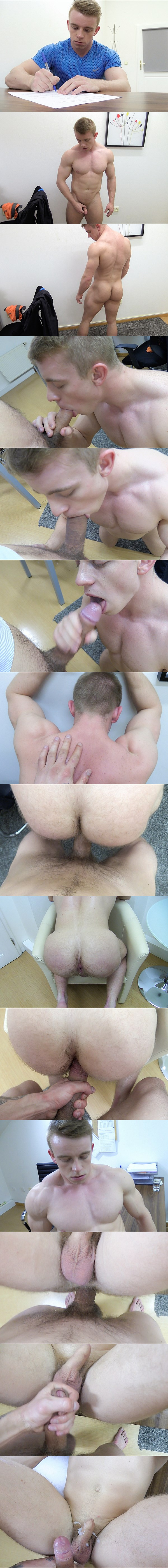 Nikol Monak barebacks a blond straight muscle jock's tight virgin ass in Dirty Scout 110 at Dirtyscout 02