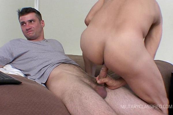 Big dicked straight Marine Skyler barebacks Rob at Militaryclassified
