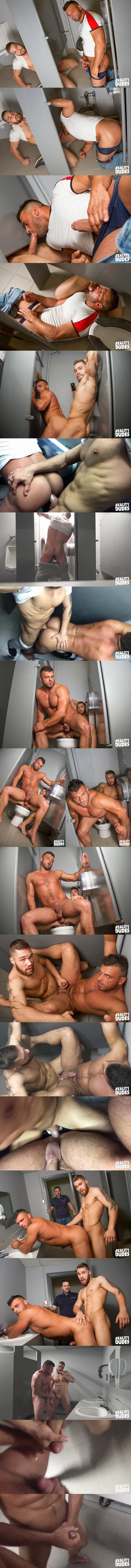 Morgan Blake fucks Jeremy in a public bathroom in Dudes In Pubilc 12 - Understall at Realitydudes 02