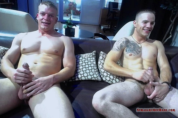 Hot straight military jock Corporal Jax and Sergeant Ryker in Webcam Jacuzzi Jerkoff at Straightoffbase