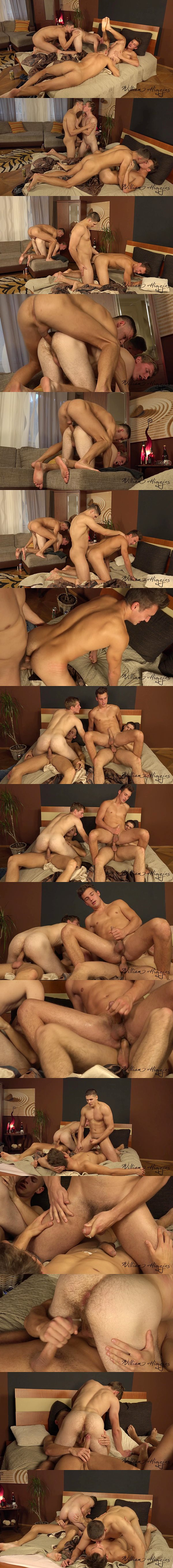Martin Hovor and Tomas Fuk bareback Dan Holan and Martin Polnak in Wank Party 89 Part 2 Raw at Williamhiggins 02