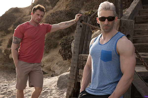 Markie More barebacks male model Sir Jet (aka Joel Evan Tye) in Beach Buddies at Nextdoorraw 01