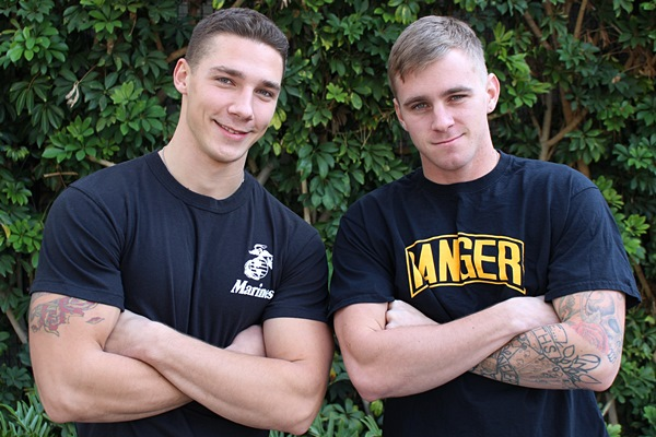 Hot new recruit Spencer Laval barebacks Ryan Jordan at Activeduty