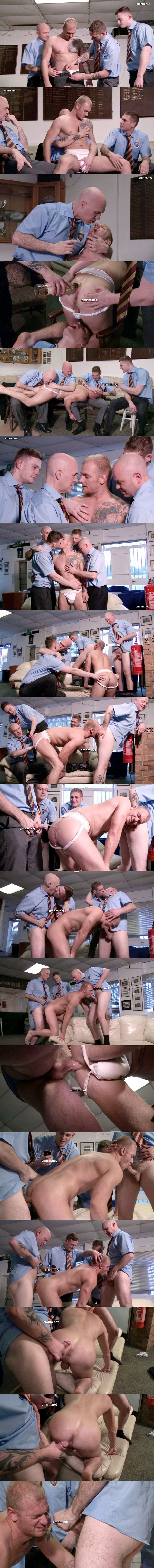 Hot muscle jock Ryan dominated, humiliated and fucked in Rugby Club Forfeits at Cmnm 02