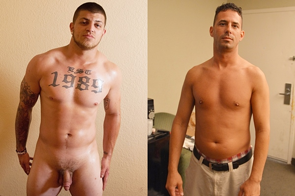 Masculine straight muscle hunk Jacob and handsome Italian James Stiffy jerk off at Fredsugar