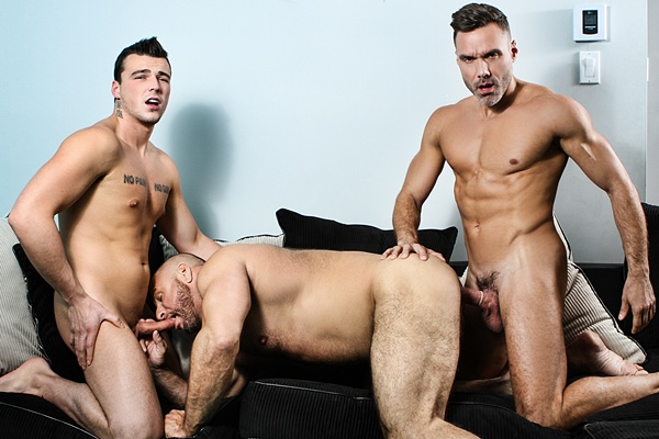 Manuel Skye and Mickael Lane fuck muscle daddy Marco Vallant in Ramming My Daughter's Boyfriend at Str8togay