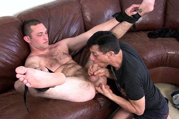 Hot straight civilian Alton gets his tight virgin ass finger fucked before he rims and barebacks Rob at Militaryclassified