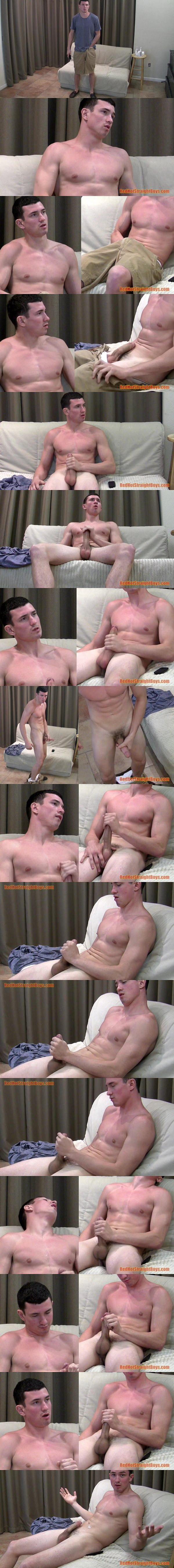 Tall muscular straight boy Anthony Slater jerks off at Redhotstraightboys