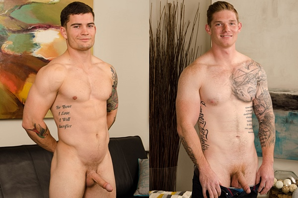 Good looking fit straight guys Curtis and Doug get naked and jerk off at Spunkworthy