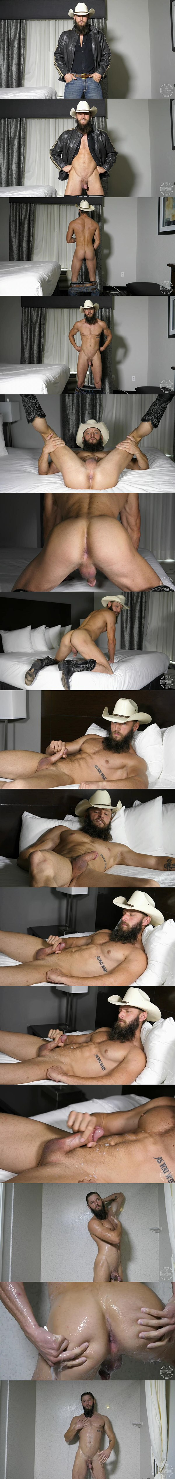 Blue-eyed bearded cowboy Wesley Holt wanks off in As You Wish at Theguysite