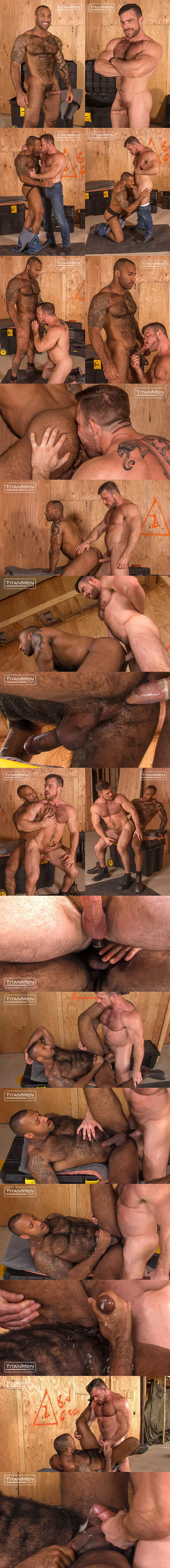 Hairy muscle hunk Daymin Voss flip fucks Liam Knox in Beef at Titanmen 02