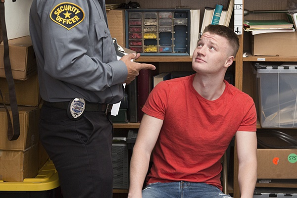 Vinnie Stefano barebacks and creampies a straight male employee in Case No. 1801014-98 at Youngperps