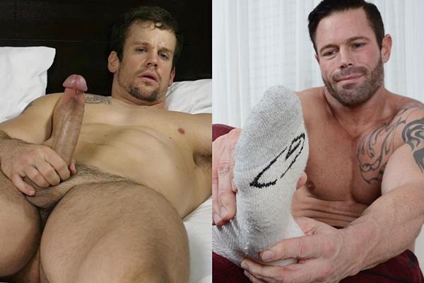 Masculine straight beefcake Dante and Joey J