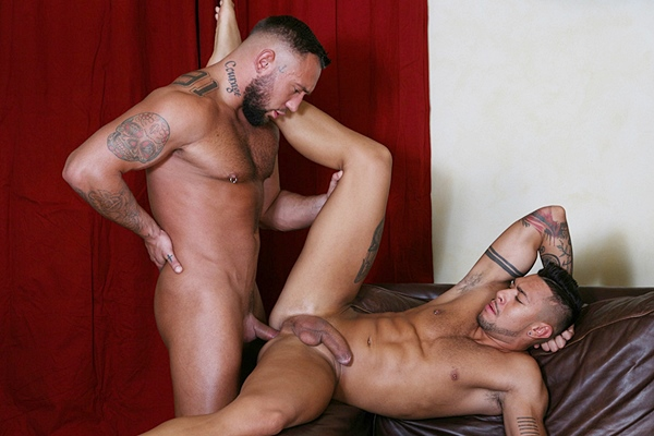 Real lovers Jake Cook and Vlad Hunter flip fuck bareback at Kristenbjorn