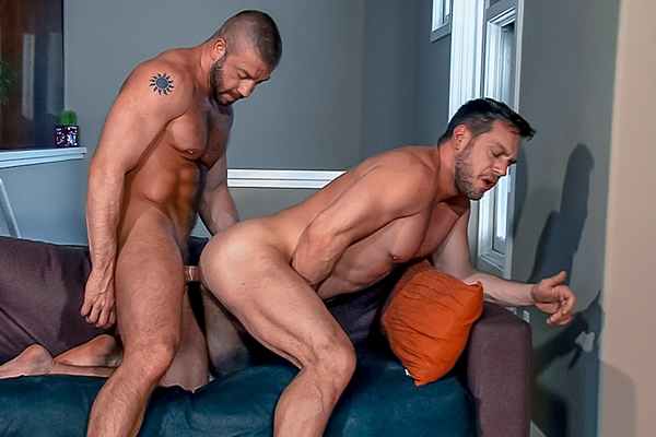 Muscle stud Hunter Marx flip fucks Hans Berlin in Dick Danger 2 at Titanmen