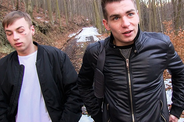 The cameraman and Tomas bareback his cute straight friend in Czech Hunter 345 at Czechhunter