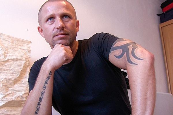 The cameraman Novak barebacks a masculine inked stud in Debt Dandy 233 at Debtdandy