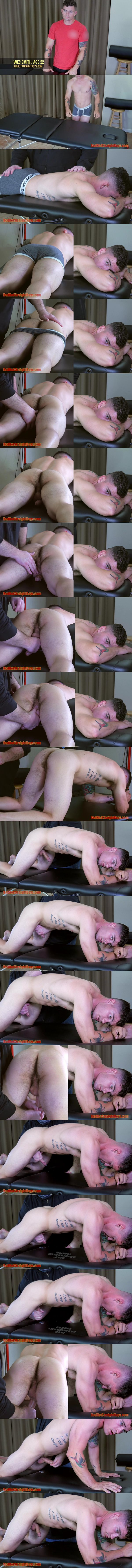 Straight jock Wes Smith jerked off in Wes Smith's First Gay Handjob at Redhotstraightboys 02