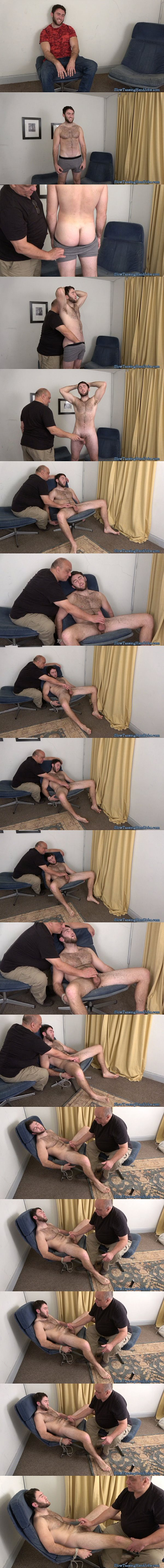 Hairy masculine straight construction worker Brad slowly jerked off at Slowteasinghandjobs 02