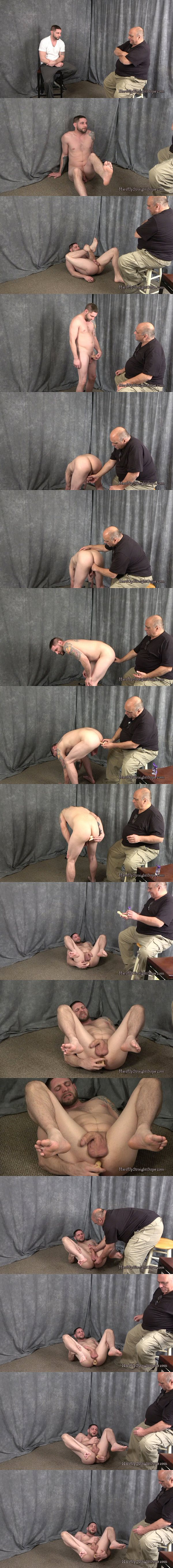 Hung Cocky straight guy Jay Rising dildo fucks the cum out of himself at Hardupstraightguys 02