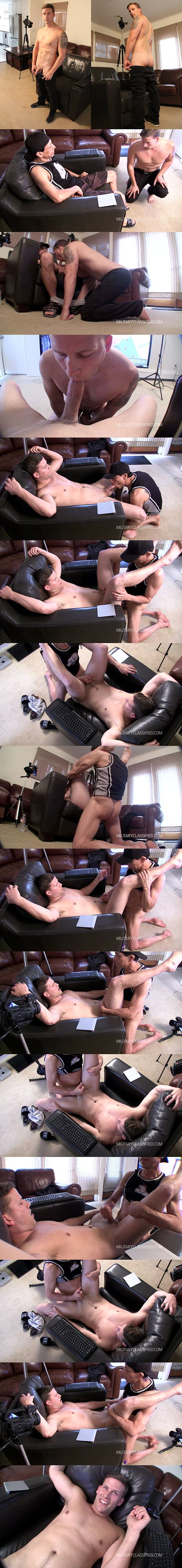 Rob barebacks straight military dude Bryce's tight virgin ass at Militaryclassified 02