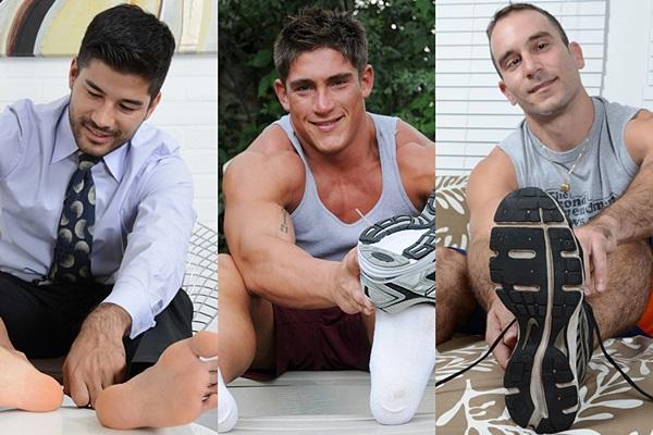 Shan, Tucker and Rocky show their socks and bare feet Myfriendsfeet