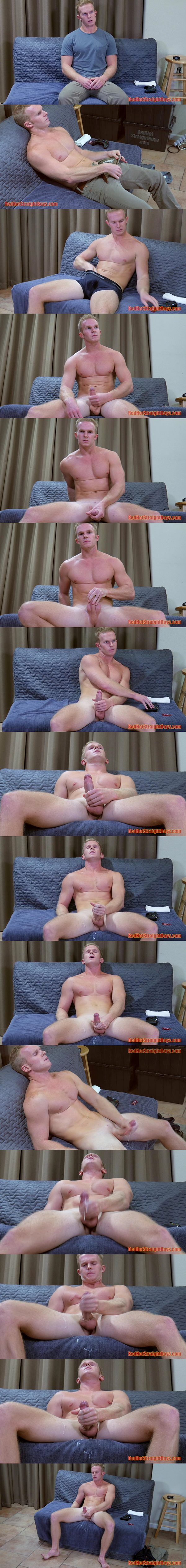 Muscular straight boy Kurt Dorn jerk off at Redhotstraightboys