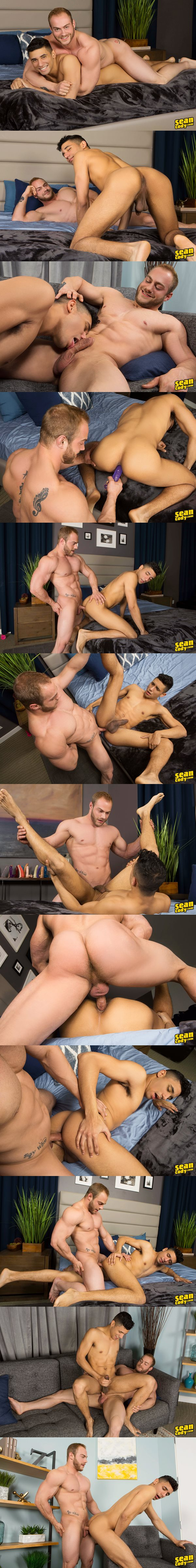 Beefcake Brock barebacks latino bottom Joe at Seancody