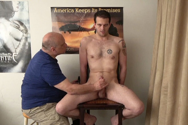 Handsome straight guy Peter slowly jerked off in Resistance is Futile at Slowteasinghandjobs