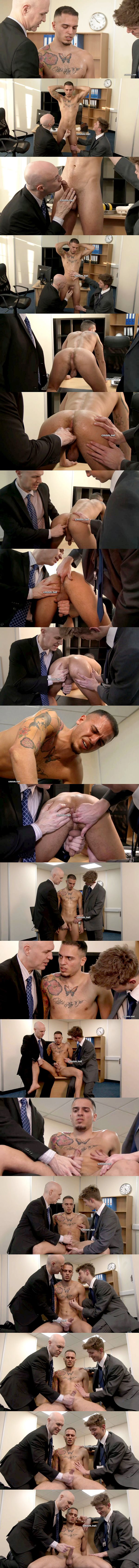 Cocky straight muscle jock Gary (aka leo bunny or leo costa) finger fucked and jerked off at Cmnm 02