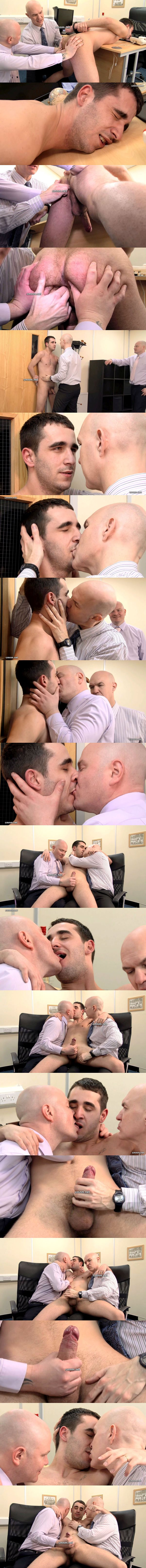 Hot Russian straight guy Mikhail Yofistin fingered, kissed and jerked in The Visit at Cmnm 02