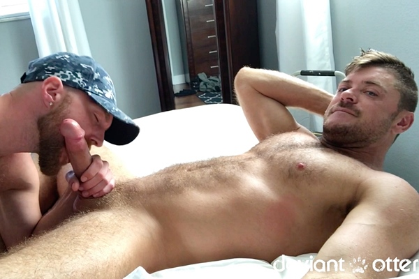 Deviant Otter barebacks and breeds hairy muscle stud Jack Andy in Great Service at Deviantotter