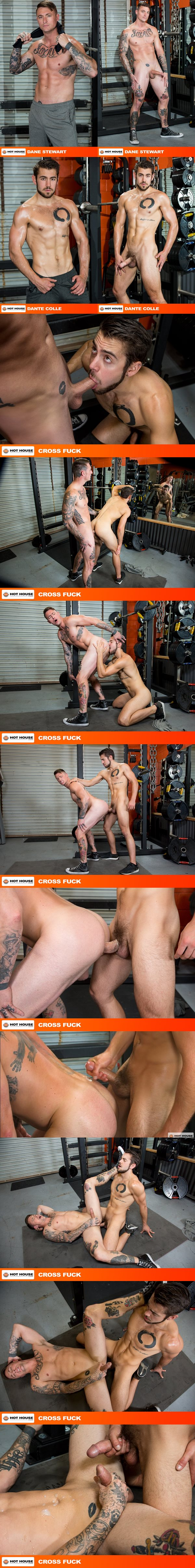 Inked muscle hunk Dane Stewart flip fucks Dante Colle at Hothouse 02